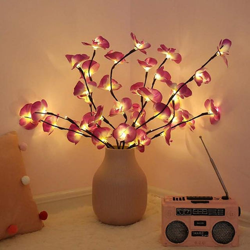 Orchid Branch LED Lights Life Hack Inventions Pink Orchid