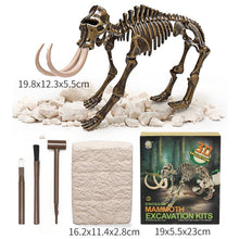 Load image into Gallery viewer, Jurassic Dinosaur Fossil excavation kits Education archeology Exquisite Toy Set Action Children Figure Education Gift BabyA9BC00 Life Hack Inventions mammoth