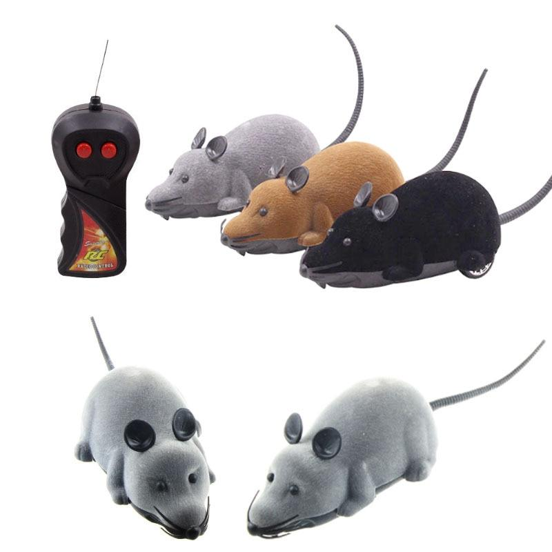 Remote Control Prank Mouse Mock Fake Rat Life Hack Inventions Black