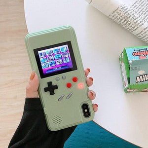 Gameboy Soft Phone Case Cover For iPhone Life Hack Inventions for iPhone X Green