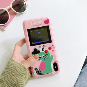 Gameboy Soft Phone Case Cover For iPhone Life Hack Inventions for iPhone 8 7 Plus Pink Diansaur