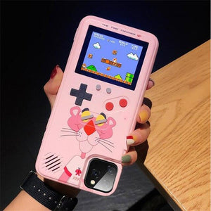 Gameboy Soft Phone Case Cover For iPhone Life Hack Inventions for iPhone 6SPlus Pink Leopard