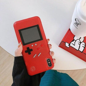 Gameboy Soft Phone Case Cover For iPhone Life Hack Inventions for iPhone 8 7 Red