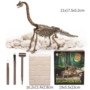 Jurassic Dinosaur Fossil excavation kits Education archeology Exquisite Toy Set Action Children Figure Education Gift BabyA9BC00 Life Hack Inventions brachiosaurus
