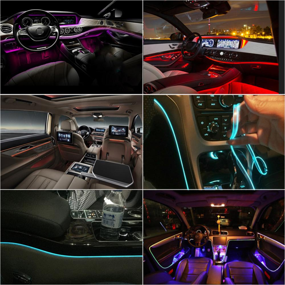 Interior Car Atmosphere Light Life Hack Inventions 6 meters