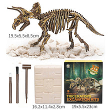 Load image into Gallery viewer, Jurassic Dinosaur Fossil excavation kits Education archeology Exquisite Toy Set Action Children Figure Education Gift BabyA9BC00 Life Hack Inventions triceratops