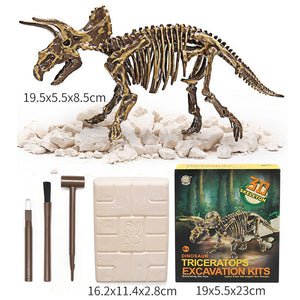 Jurassic Dinosaur Fossil excavation kits Education archeology Exquisite Toy Set Action Children Figure Education Gift BabyA9BC00 Life Hack Inventions triceratops