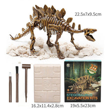 Load image into Gallery viewer, Jurassic Dinosaur Fossil excavation kits Education archeology Exquisite Toy Set Action Children Figure Education Gift BabyA9BC00 Life Hack Inventions stegosaurus
