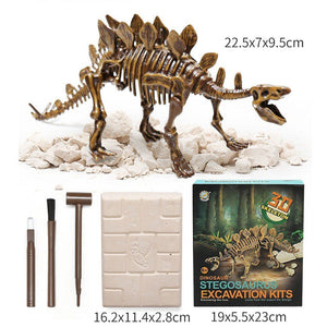 Jurassic Dinosaur Fossil excavation kits Education archeology Exquisite Toy Set Action Children Figure Education Gift BabyA9BC00 Life Hack Inventions stegosaurus