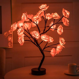 Christmas Desktop Rose Flower Lamp Life Hack Inventions Red