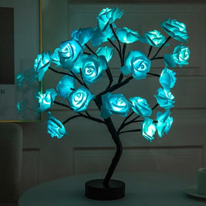 Christmas Desktop Rose Flower Lamp Life Hack Inventions Blue