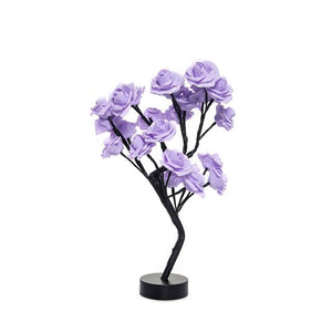 Christmas Desktop Rose Flower Lamp Life Hack Inventions violet