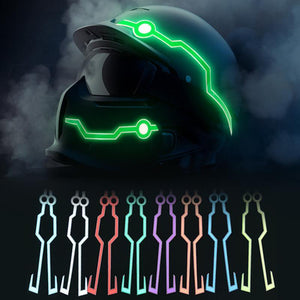 Helmet Cold Light EL Signal Flashing Stripe - Pattern A Life Hack Inventions