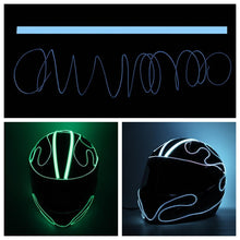 Load image into Gallery viewer, DIY Pattern Helmet Cold Light EL Signal Flashing Life Hack Inventions