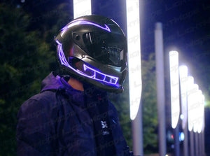Helmet Cold Light EL Signal Flashing Stripe - Pattern C Life Hack Inventions