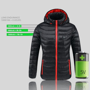 SHIELD™ Heated Jackets Hooded Coat Life Hack Inventions