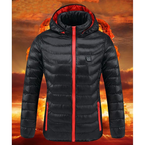 SHIELD™ Heated Jackets Hooded Coat Life Hack Inventions XS