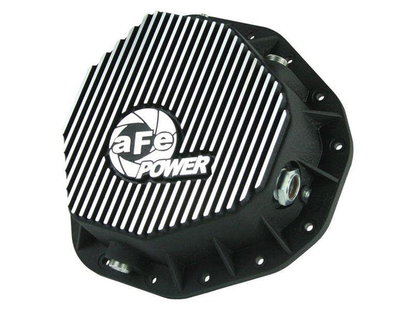AFE POWER PRO SERIES REAR DIFFERENTIAL COVER BLACK w/MACHINED FINS | 2003-2005 DODGE RAM 2500/3500 DIESEL
