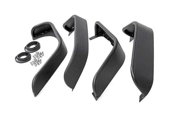 ROUGH COUNTRY TUBULAR & FLAT STEEL FENDER FLARE SET OF 4 | 2007-2018 JEEP WRANGLER JK