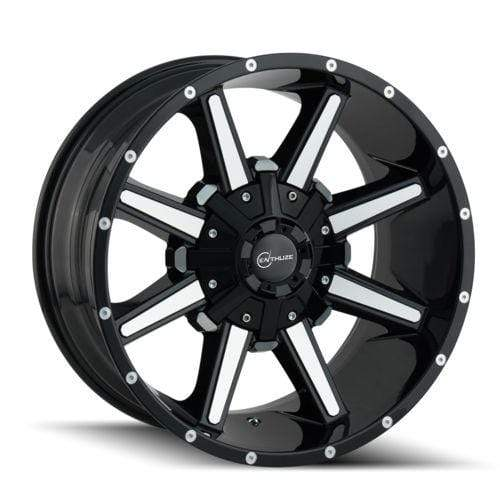 ENTHUZE VAULT 20x10 8x180 OFFSET -19mm | BLACK MILLED
