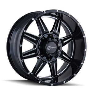 ENTHUZE HELIX 20X10 5X127 & 5X139.7 OFFSET -12MM | BLACK/MILLED