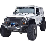 PARAMOUNT AUTOMOTIVE HEAVY DUTY ROCK CRAWLER FRONT BUMPER BLACK w/LED | 2007-2018 JEEP WRANGLER JK