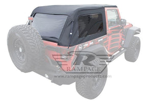 RAMPAGE FRAME-LESS SOFT TOP | 2007-2018 JEEP WRANGLER JK 2-DOOR
