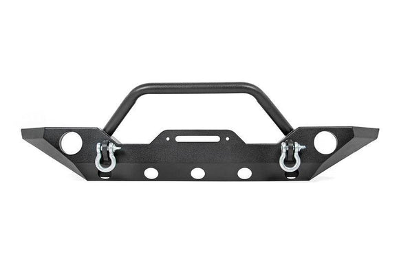 ROUGH COUNTRY FULL-WIDTH SPORT FRONT WINCH BUMPER W/ D-RINGS | 2007-2018 JEEP WRANGLER JK