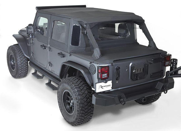 RAMPAGE TRAILVIEW TONNEAU TOP SOFT TOP | 2007-2018 JEEP WRANGLER JK 2-DOOR
