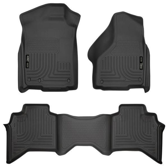HUSKY LINERS FRONT & 2ND SEAT FLOOR LINERS | 2009-2018 DODGE RAM QUAD CAB