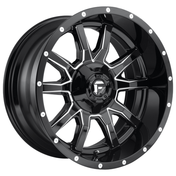 FUEL VANDAL 1PC D627 20X10 6X135/5.5 GL-BLK-MIL -19MM