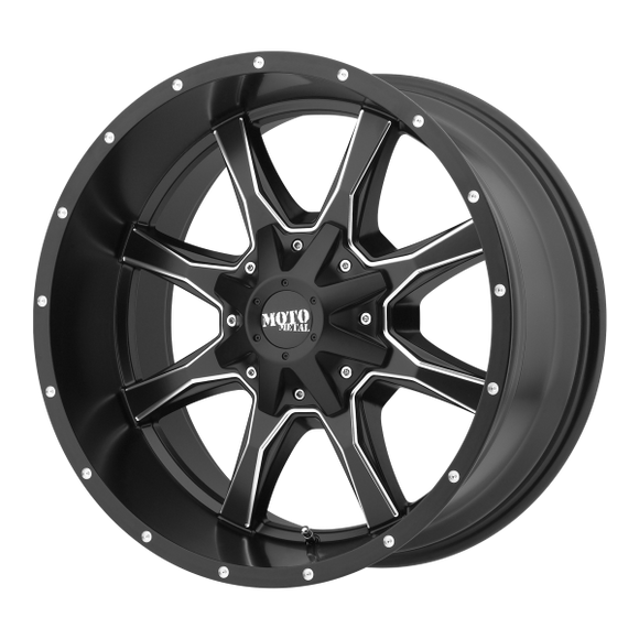 MOTO METAL MO970 20X9 6X135/5.5 S-BLK MILL 00MM