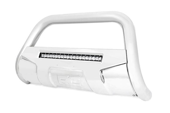 ROUGH COUNTRY FORD BULL BAR W/LED LIGHT BAR | STAINLESS STEEL 2004-2018 F-150)