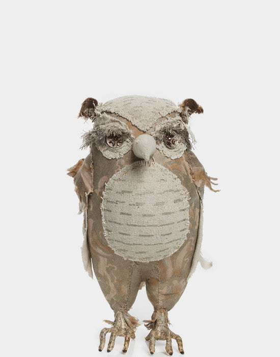 Stuffed Owls by Ann Wood for Fortuny
