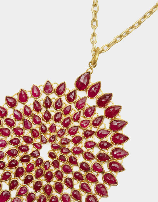 Ruby Spiral Necklace