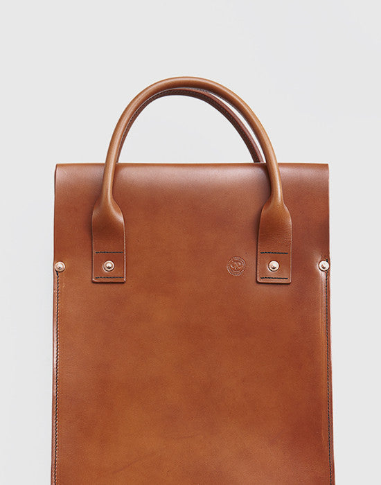Leather Tote Bag by Tigerklo