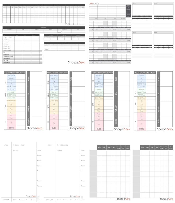 Complete Kneeboard Templates Package