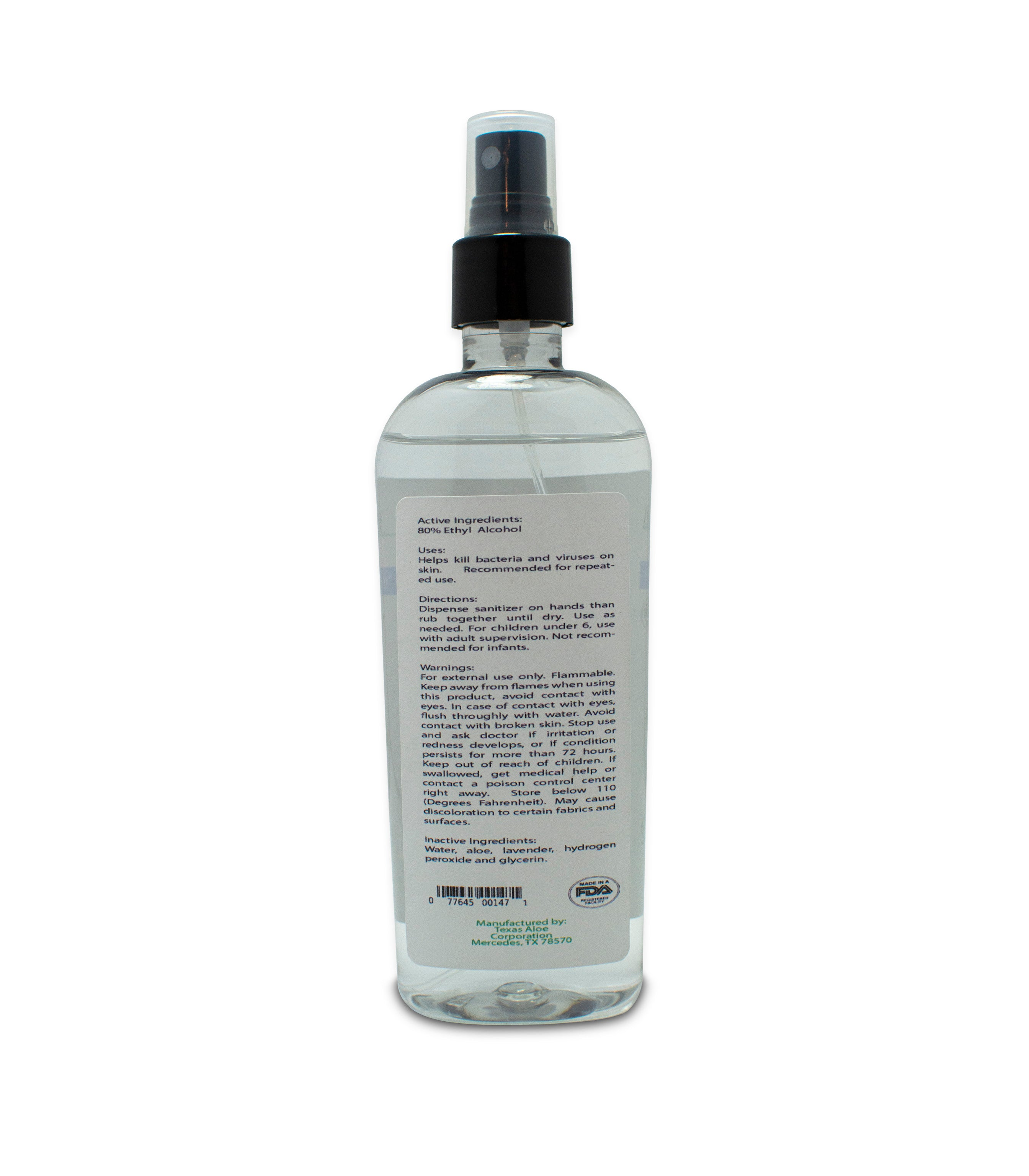 Hand Sanitizer Spray With Lavender