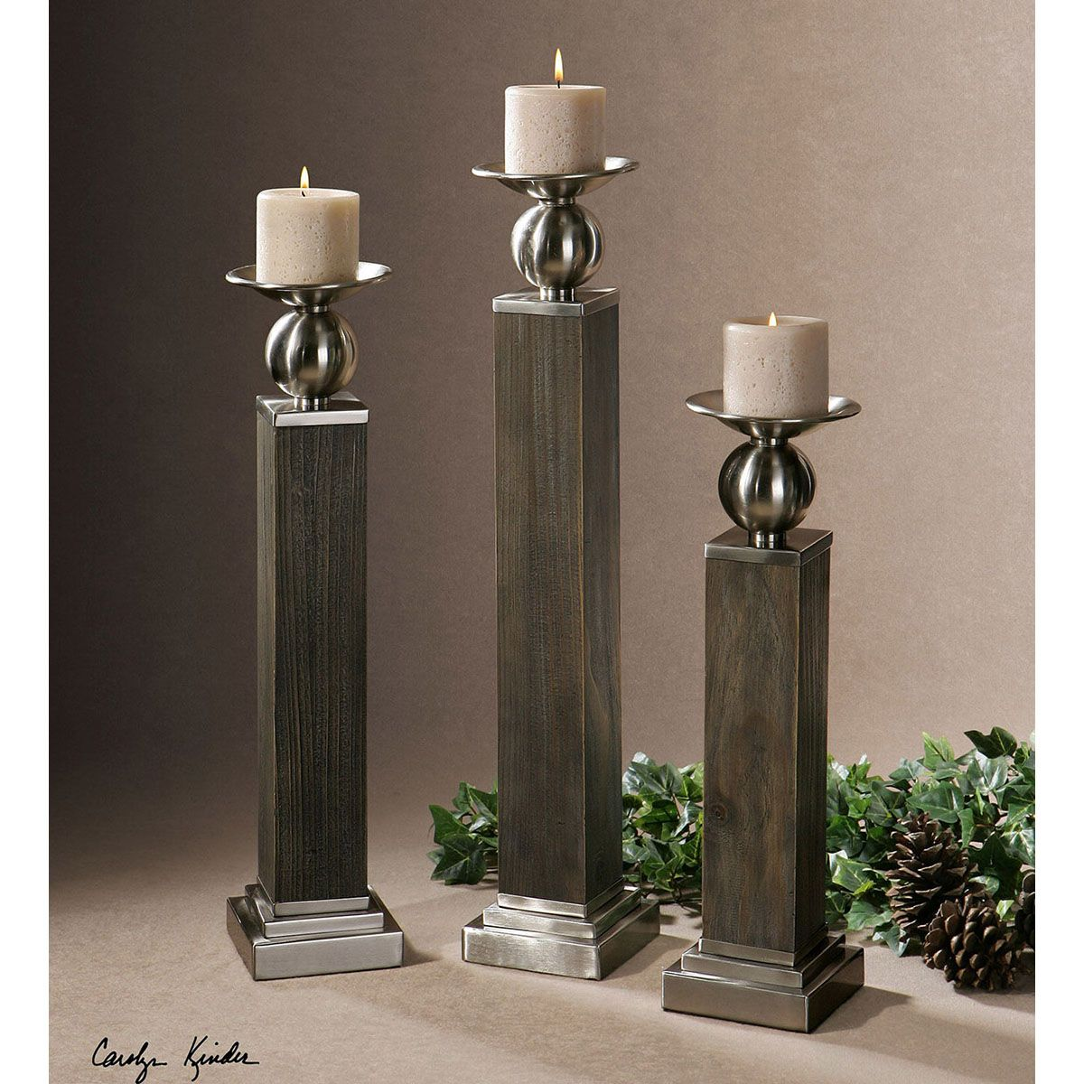 Hestia Candle Holders (Set of 3)  -  19832