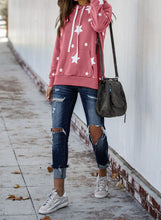 Load image into Gallery viewer, Hooded Cotton Blend Star Sweatshirt