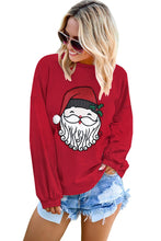 Load image into Gallery viewer, Cute Santa Clause Pattern Pullover Sweatshirt