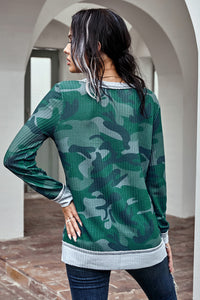 Brex Camo Thermal Knit Top