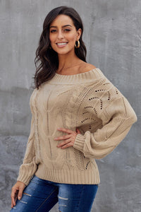 Khaki Chunky Oversized Pullover Sweater