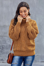 Load image into Gallery viewer, Yellow Chunky Turtleneck Sweater