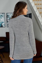 Load image into Gallery viewer, Gray All This Time Zipper Pullover Top