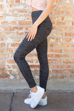 Load image into Gallery viewer, Black High Waist Tummy Control Zebra Stripes Print Leggings