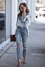 Load image into Gallery viewer, Contract High Rise Distressed Jeans
