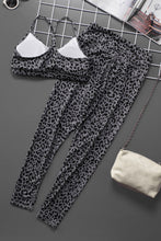 Load image into Gallery viewer, Gray Printed Bra Leggings Set