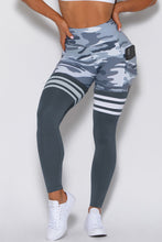 Load image into Gallery viewer, Gray Camo Print Striped Sport Pants