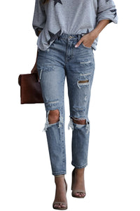 Contract High Rise Distressed Jeans